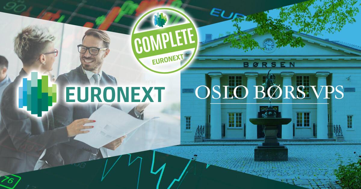 ユーロネクスト、オスロ証券取引所グループの買収を完了