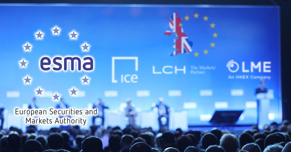 ESMA、英国拠点CCP3社に第三国CCPとしての認可を与える方針