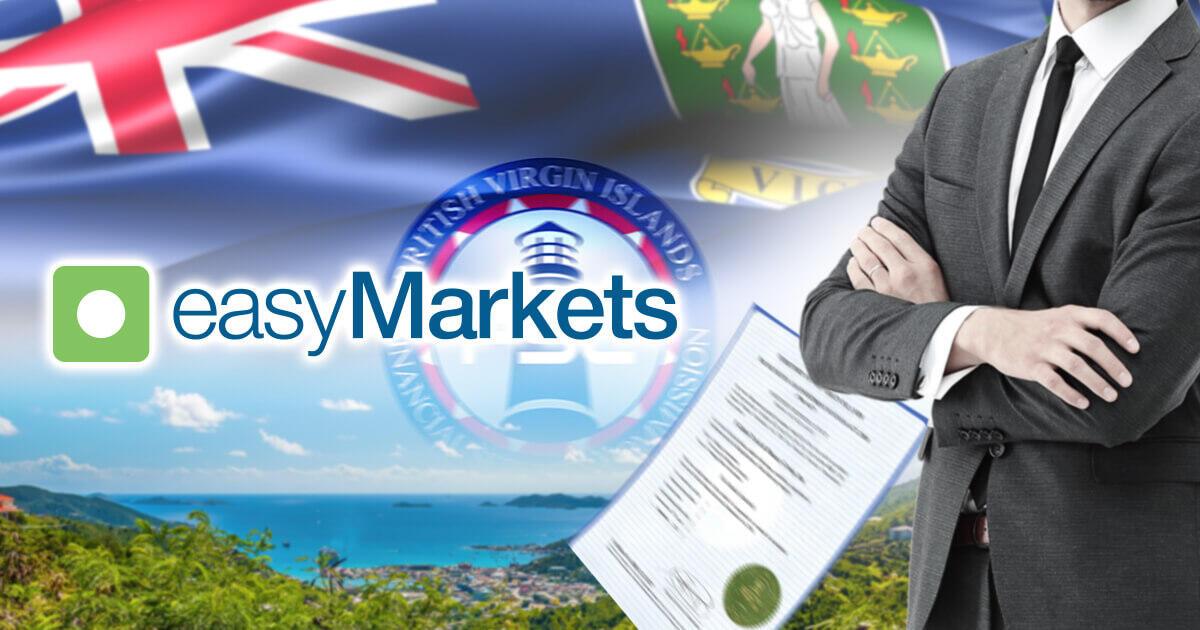 easyMarkets、英領バージン諸島のライセンスを追加