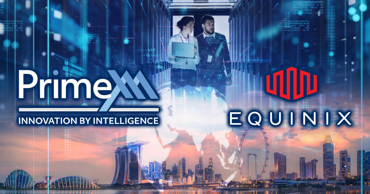 PrimeXM、エクイニクスのSG1を活用しアジアでサービス拡充